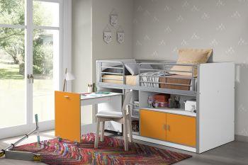 Halbhochbett mit Schreibtisch Bonny 91 - orange