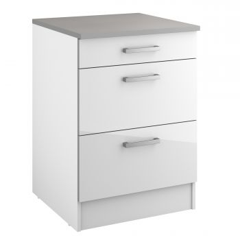 Basiseinheit Eli 60 cm mit 3 Schubladen - weiß
