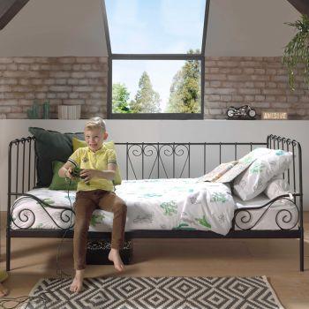 ALICE CAPTAIN BED BLACK 90x200CM