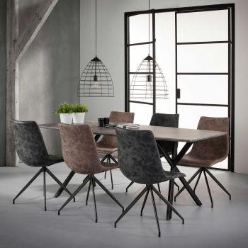Esszimmertisch 190x90cm Oval 3d texture - 3D Beton dekor