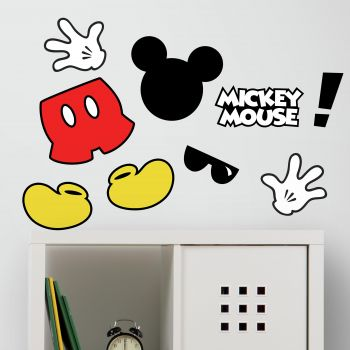 Wandaufkleber Mickey Maus Symbole