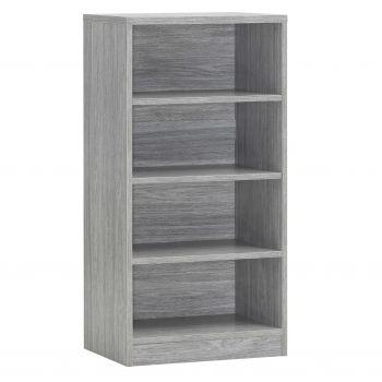 Bücherregal Spacio 55cm mit 3 Einlegeböden - Eiche grau