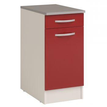 Unterschrank Eko 40x60 cm mit Schublade und Tür - rot