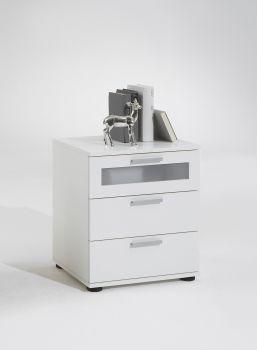 Nachttisch Jack mit 3 Schubladen - weiß