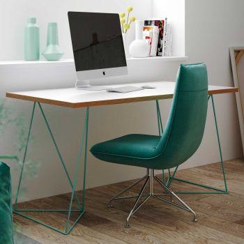 Desk Flo - weiß/grüne Beine
