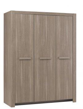Kleiderschrank Haron mit 3 Türen