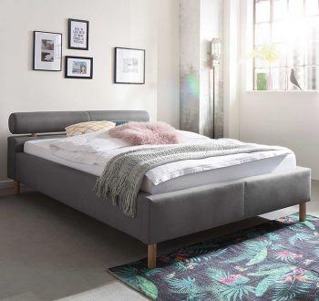 Gestoffeerd bed Feline - 120x200 cm - Lichtgrijs