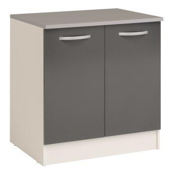 Unterschrank Eko 80 cm für Spüle mit 2 Türen - grau
