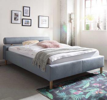 Gedempt bed Feline - 140x200 cm - ijsblauw