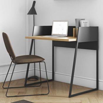 Schreibtisch Volta - schwarz/Eiche