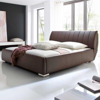 Gestoffeerd bed Bern - 200x200 cm - bruin