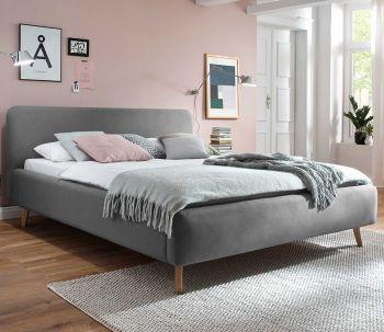 Gestoffeerd bed Mattis - 180x200 cm - Lichtgrijs
