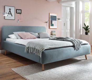 Gedempt bed Mattis - 180x200 cm - ijsblauw