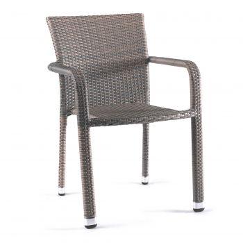 Bastia stacking chair wicker dolphin grey
