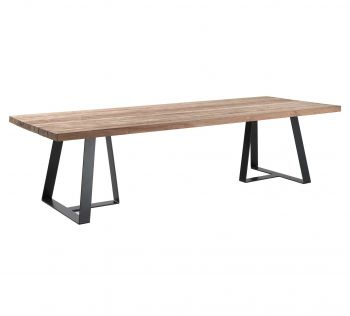 Margarite table 300 x 110 charcoal frame