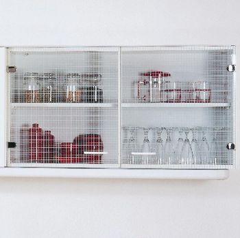 Hängeschrank Bingo 100 cm Glastüren - weiß
