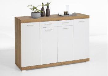 Sideboard Kristall 160x109x50 - alte Eiche / weiß