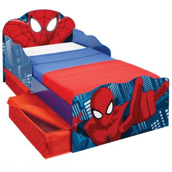 Spiderman Kinderbett mit Schubladen