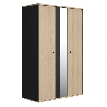 Kleiderschrank Dean mit 2 Türen und Spiegel