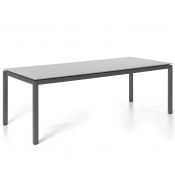 Gartentisch Albany 210x100 - schwarz/grau