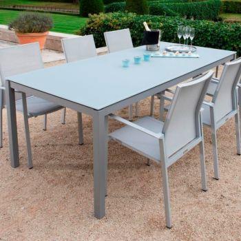 Gartentisch Albany 220x100 - silber/grau