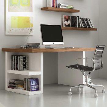 Office Multis - weiß/nussbaumfarben