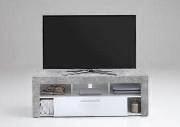 TV-Schrank Vidi 150 cm - Beton/weiß