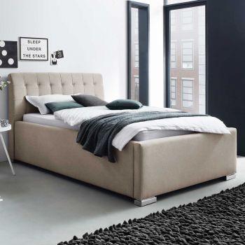 Gestoffeerd bed La Finca BK - 160x200 cm - beige