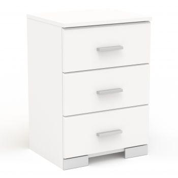 Nachttisch Galaxy 3 Schubladen - weiß