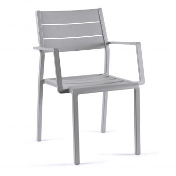 Gucci stacking chair full alu silver grey mat