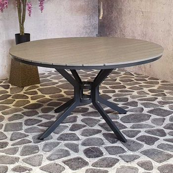 Jersey table Ø 140cm grey