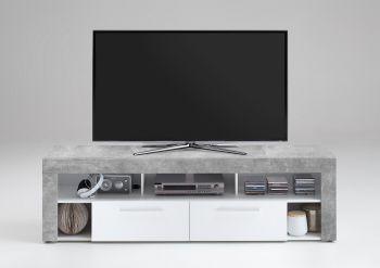 TV-Schrank Vidi 180 cm - Beton/weiß