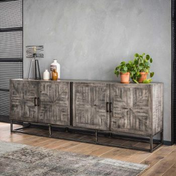 Sideboard grado - Massiv mango Grau antique
