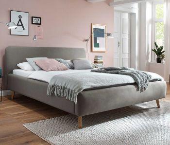 Gedempt bed Mattis - 140x200 cm - taupe