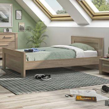 Einzelbett Haron 90x190 - Eiche grau