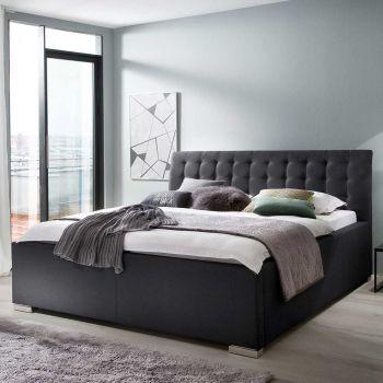 Gestoffeerd bed La Finca BK - 140x200 cm - zwart