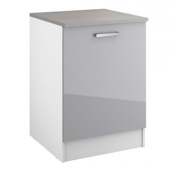 Unterschrank Eli 60 cm mit Tür - grau
