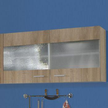 Hängeschrank Bingo100 cm Glastüren - Sonoma Eiche