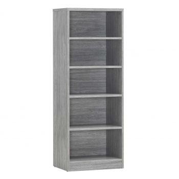 Bücherregal Spacio 55cm mit 4 Einlegeböden - Eiche grau