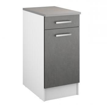 Unterschrank Eli 40 cm mit Schublade und Tür - Beton