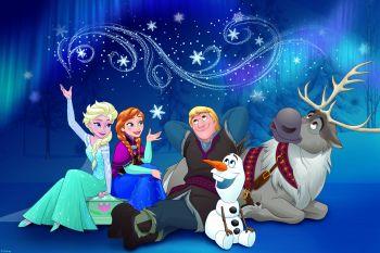 Leinwandbild Die Eiskönigin Winternight