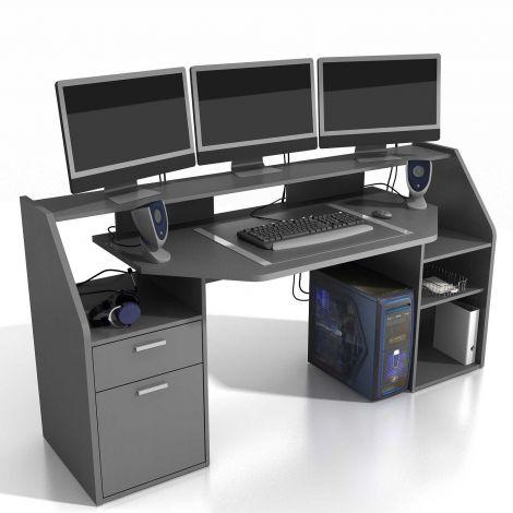 Gaming-Schreibtisch Force 180cm - anthrazit