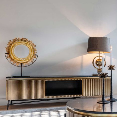 Fernsehschrank Aarons 170cm 2 Türen - gold
