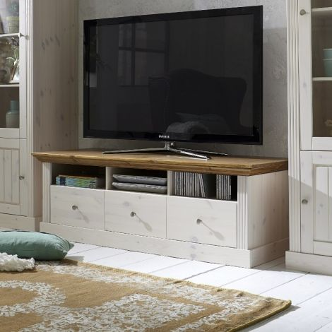 TV-Möbel Edmund 3 Schubladen 145 cm - weiß/provence