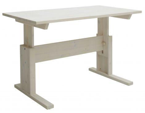 Verstellbarer Schreibtisch Adam 140 cm - weiß waschbar