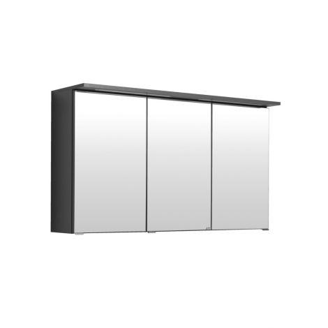 Spiegelschrank Bobbi 120cm Modell 1 3 Türen und LED-Beleuchtung - graphit
