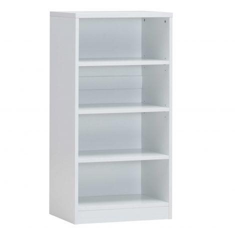Bücherregal Spacio 55cm mit 3 Einlegeböden - weiß