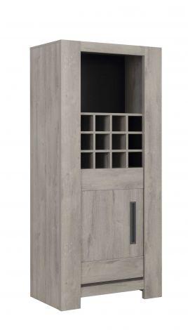BOSTON - Colonne casiers 1 porte Chêne gris clair