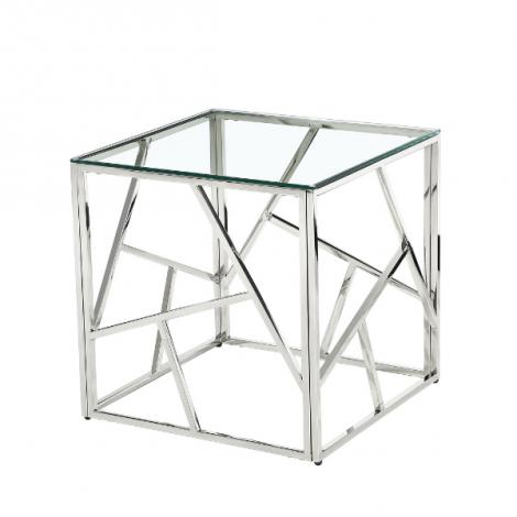Beistelltisch Greenland Glasplatte - silber