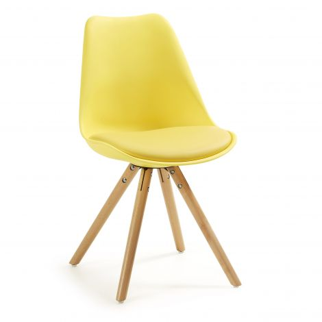 4er-Set Stühle Ralf Holz/Kunststoff - gelb